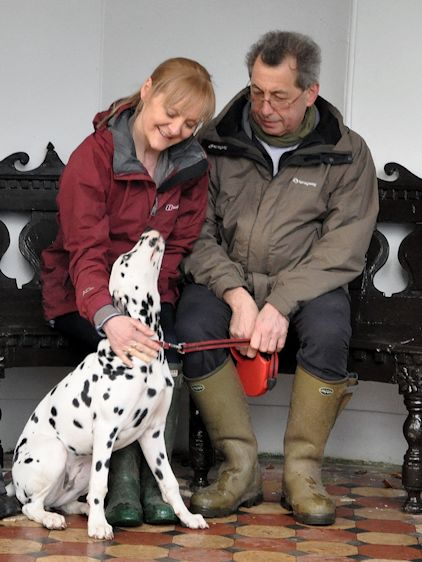 David, Mandi and Pippin the Dalmatian